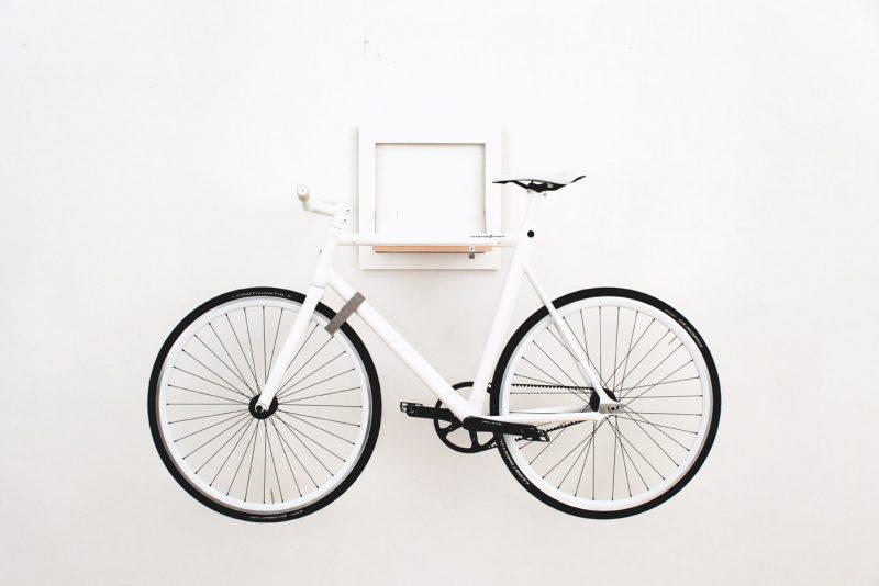 Porte vélo blanc repliable