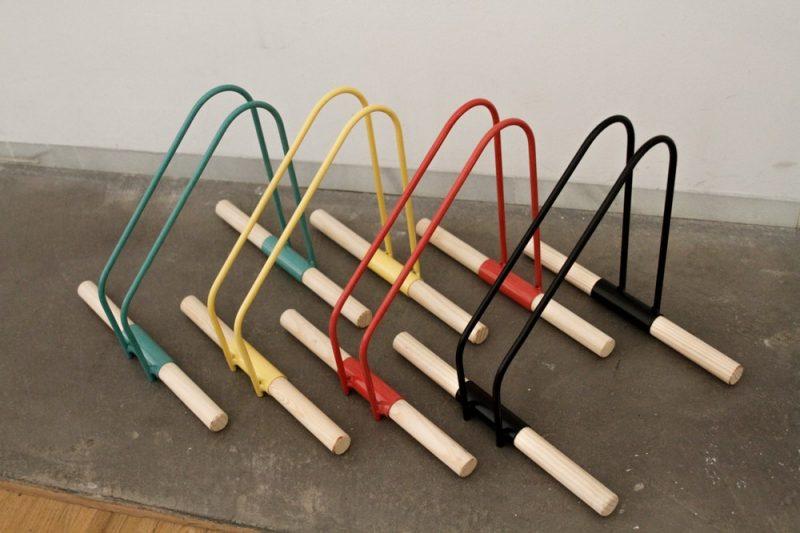 Porte vélo coloré