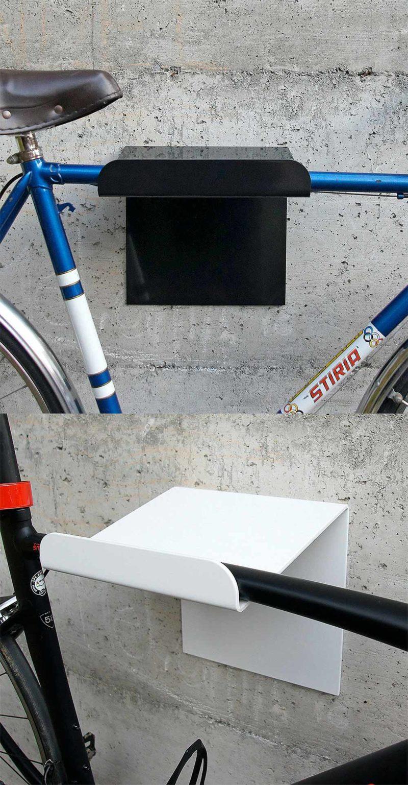 Support vélo mural en métal