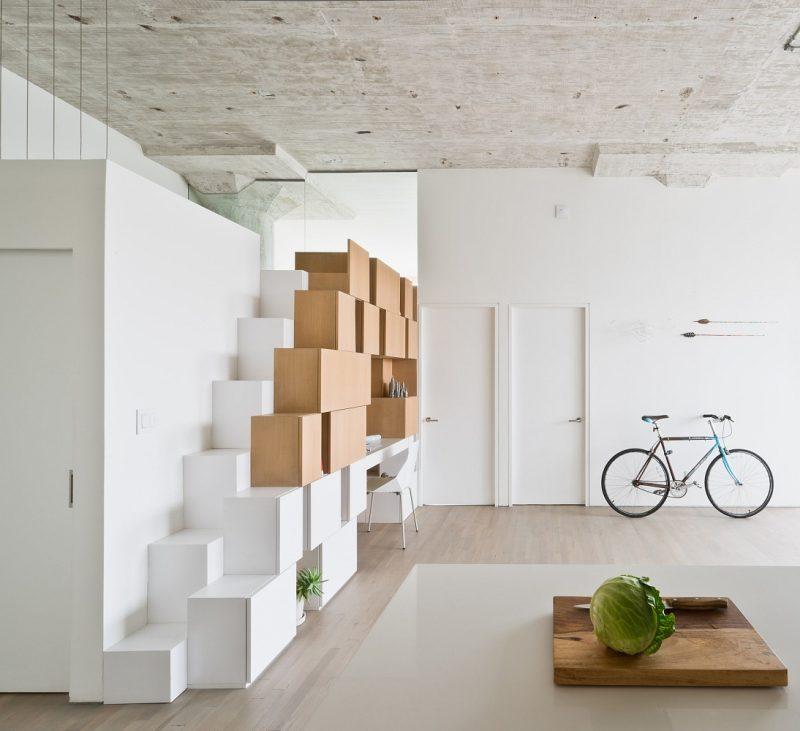 Vélo dans un loft