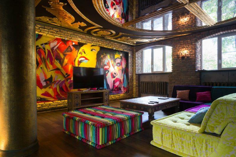 Loft avec tableau arty