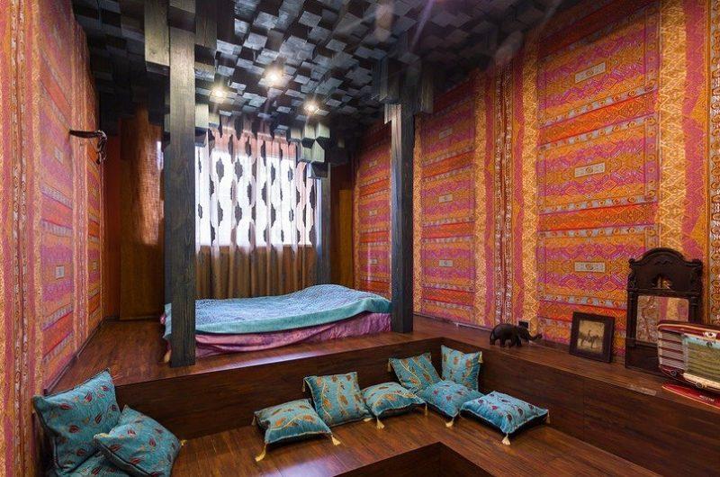 Chambre esprit oriental dans un loft