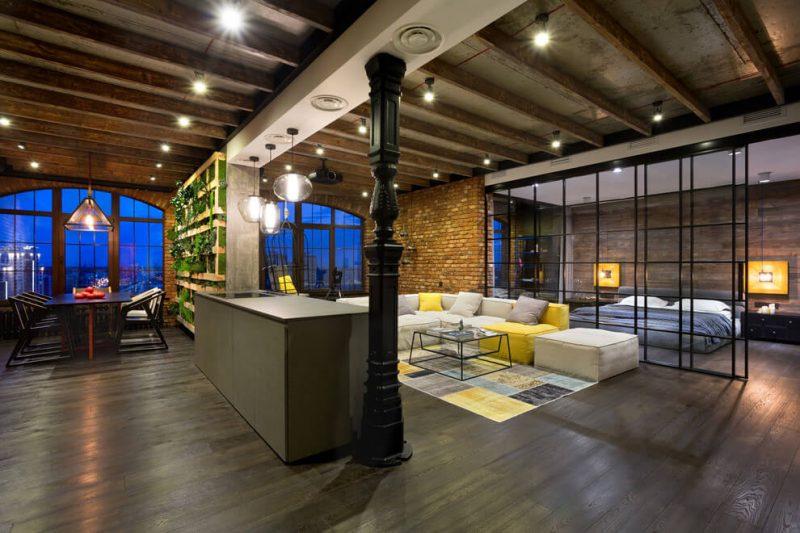 Loft is loft kiev par martin architects - Loft industriel martin architectes kiev ...