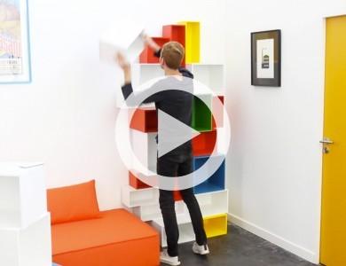 Vidéo : le système d'étagère Cubit
