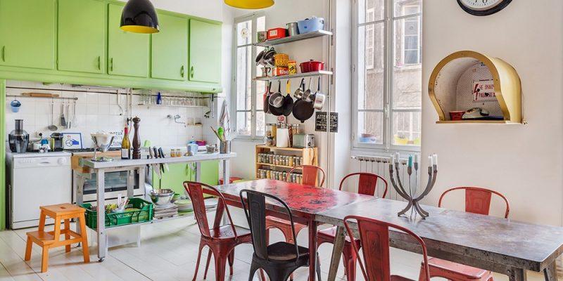 Appartement déco vintage et colorée
