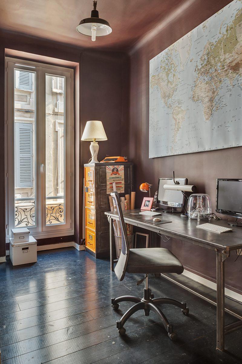 parquet peint en noir. Black Bedroom Furniture Sets. Home Design Ideas