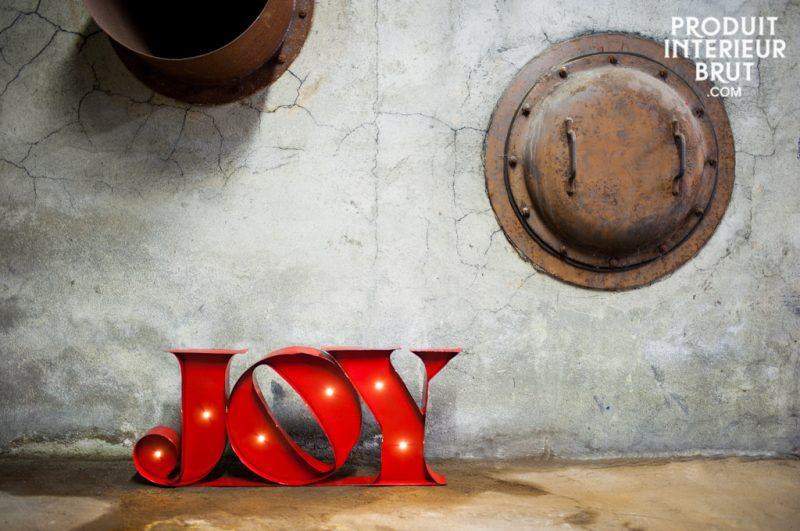 Enseigne lumineuse rouge JOY