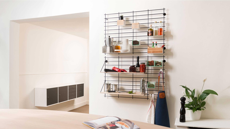 syst me de rangement mural loopholes par atelier belge. Black Bedroom Furniture Sets. Home Design Ideas