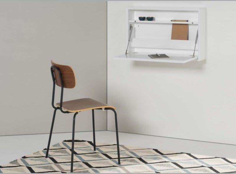 bureau mural rabattable 14 id es d co pour gagner de la place. Black Bedroom Furniture Sets. Home Design Ideas