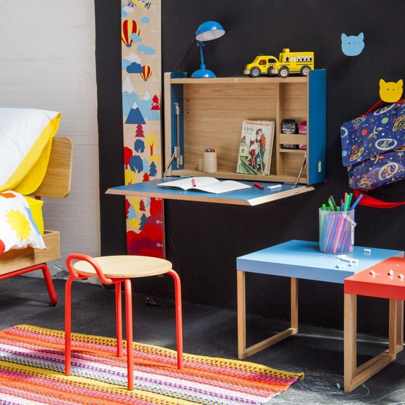 bureau mural pour chambre d 39 ado par habitat. Black Bedroom Furniture Sets. Home Design Ideas