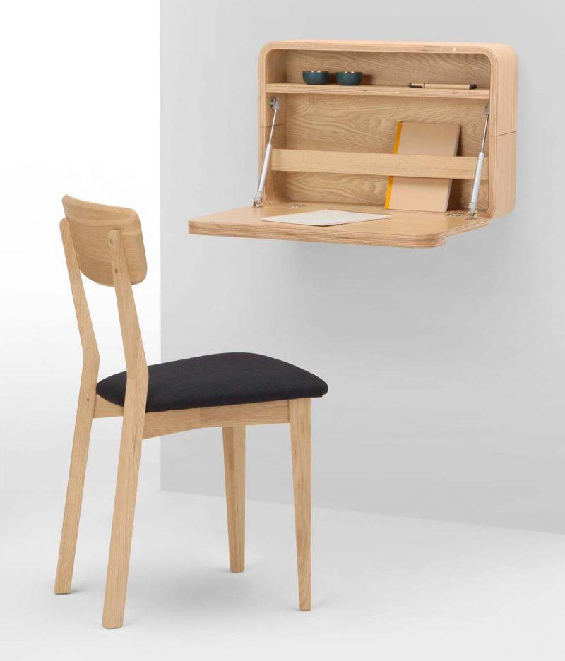 bureau mural rabattable : 15 meubles pliables astucieux