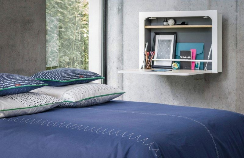 bureau mural r tractable la redoute. Black Bedroom Furniture Sets. Home Design Ideas
