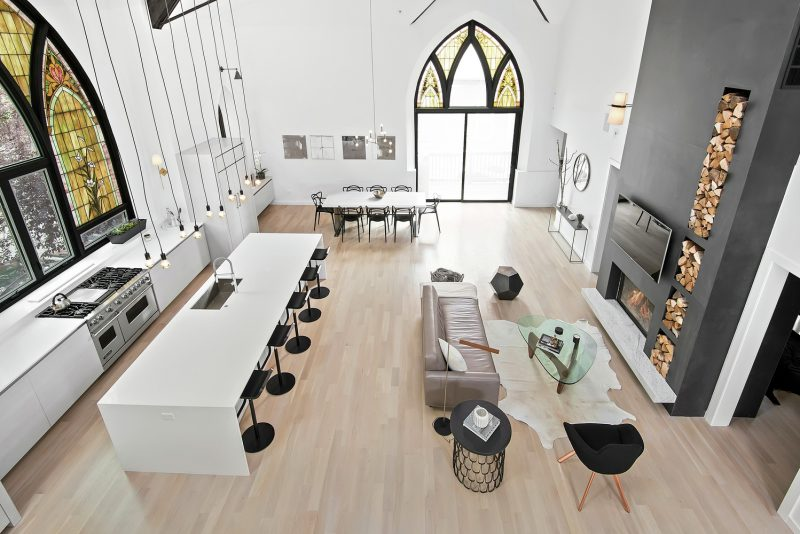 Eglise transformee en loft