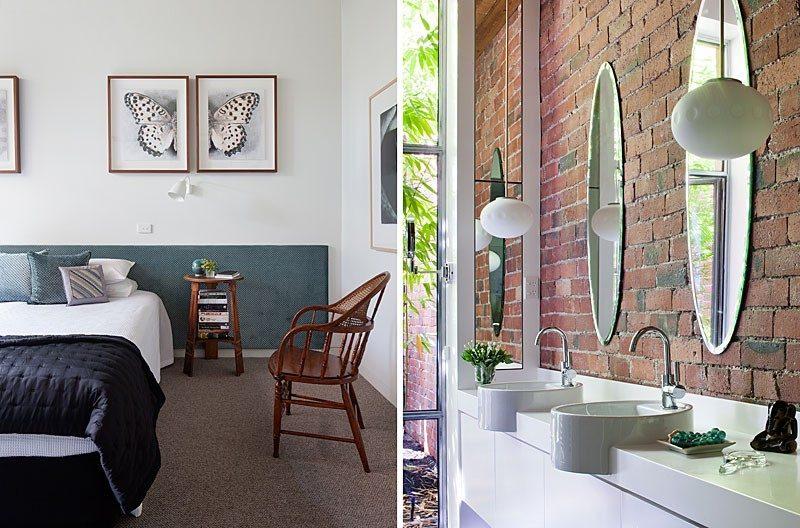 Chambre et salle de bains du loft