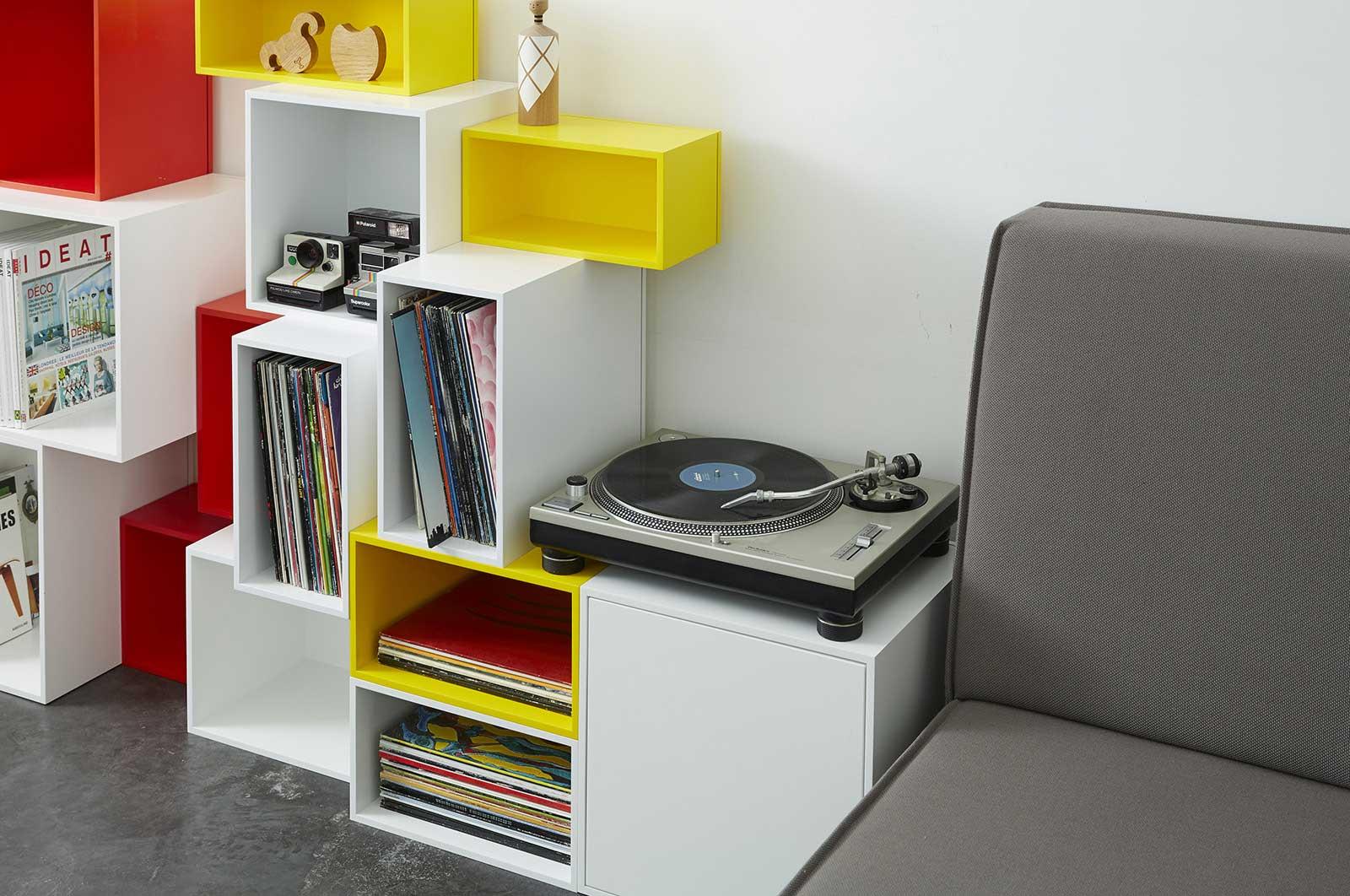 Rangement vinyles Cubit
