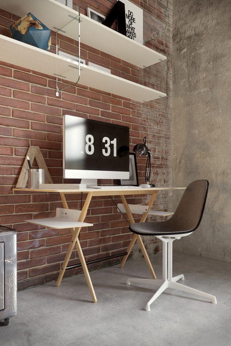 Bureau avec chaise Eames La Fonda