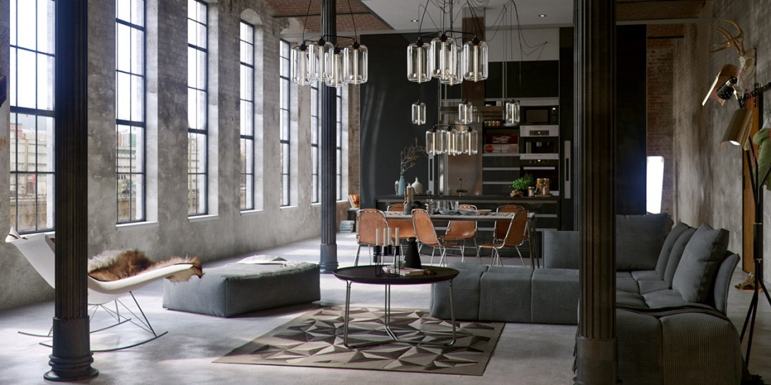 Photos de lofts et ateliers de styles industriel moderne for Deco loft industriel