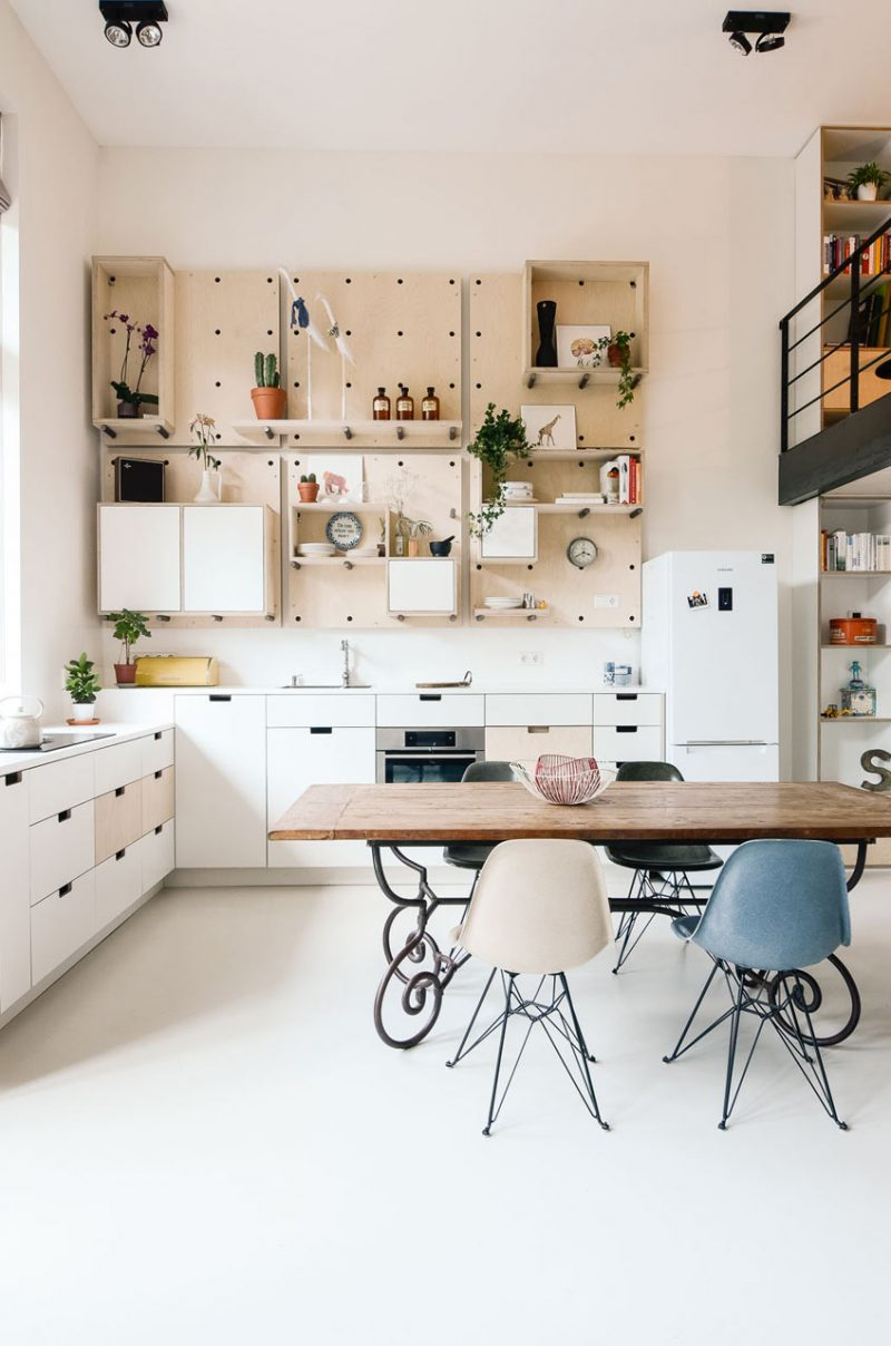 Cuisine avec meubles modulaires