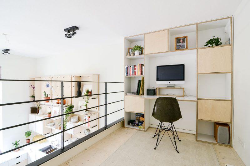 Bureau sur mezzanine dans un loft