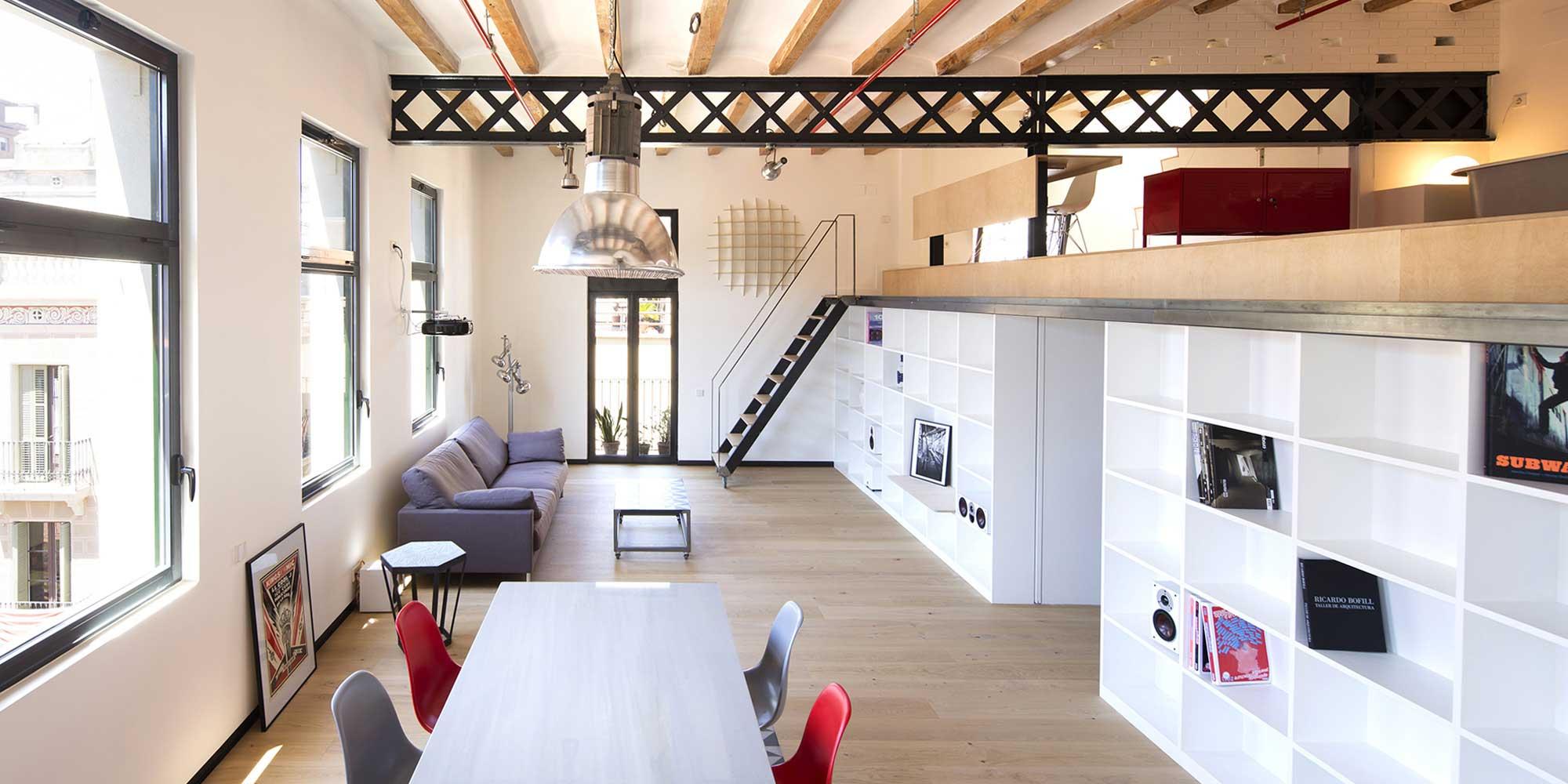 Loft dans une ancienne usine textile à Barcelone par META Studio