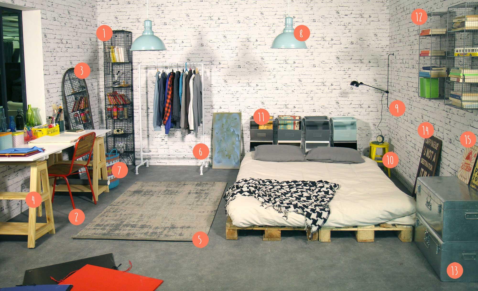 Comment créer une déco chambre atelier d\'artiste ?