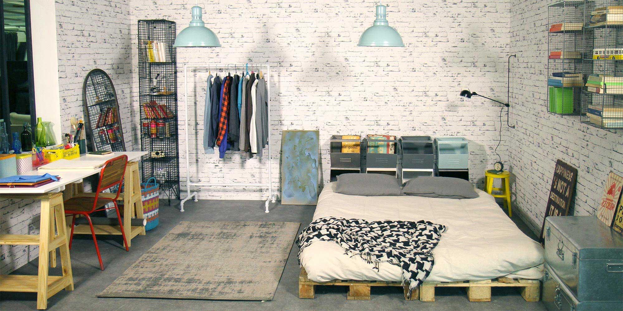 Chambre atelier d 39 artiste pour d fi d int rieur s for Deco atelier loft
