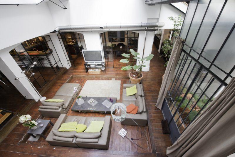 loft dans un ancien atelier de photographe lyon. Black Bedroom Furniture Sets. Home Design Ideas
