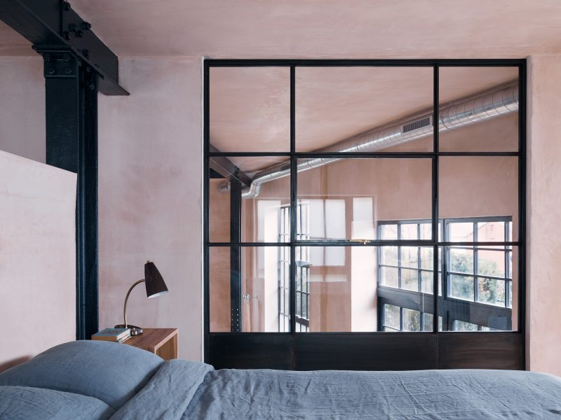 Chambre avec verrière