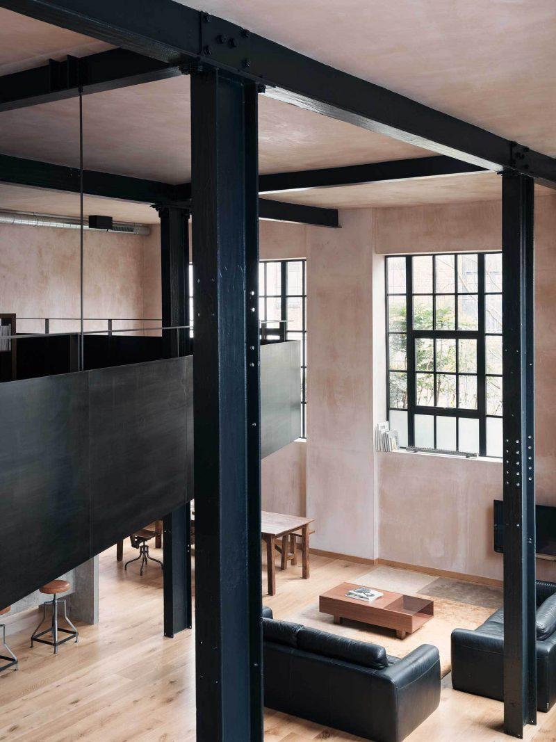 Mezzanine dans un loft