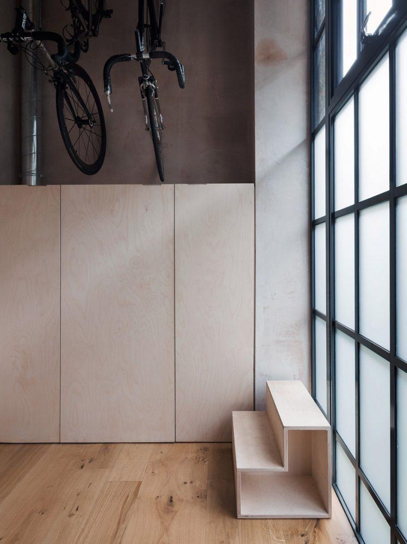 Espace pour ranger les vélos