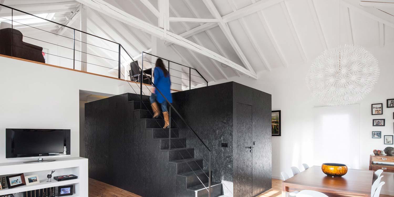 Loft dans une grange par in s brand o for Une architecte