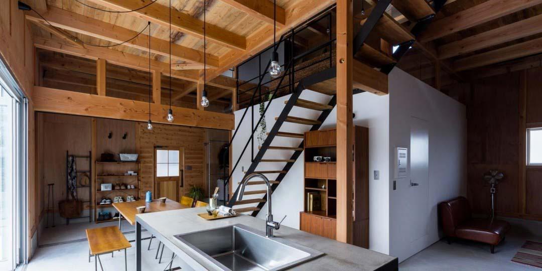 Maison cubique esprit loft