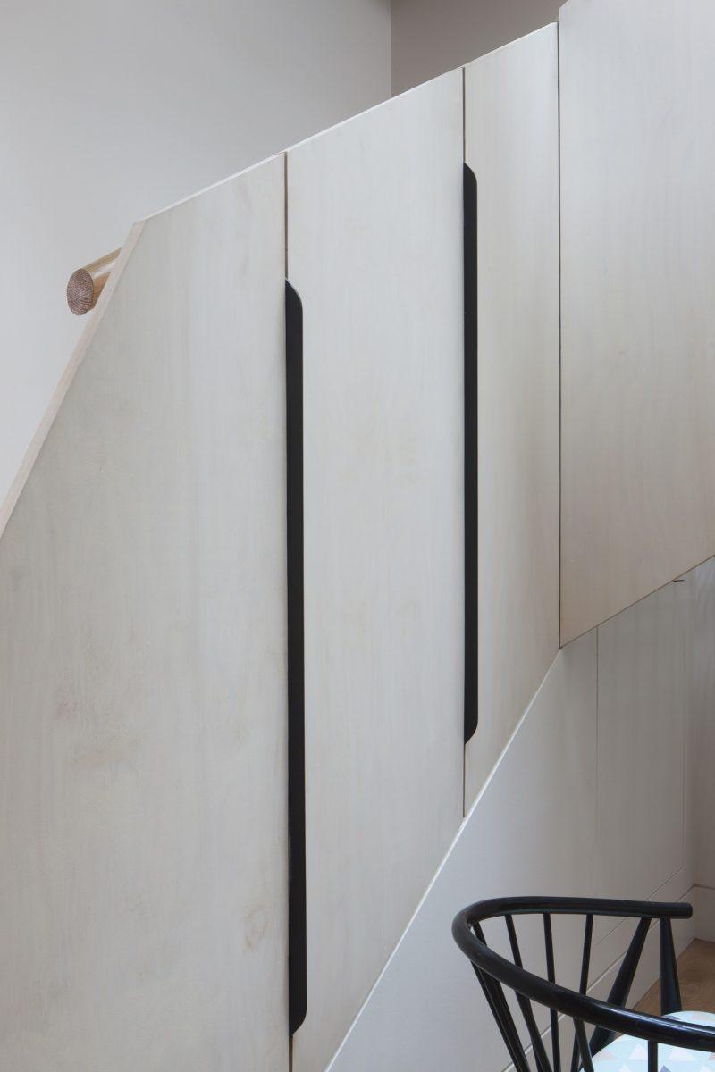 Détail de l'escalier du loft