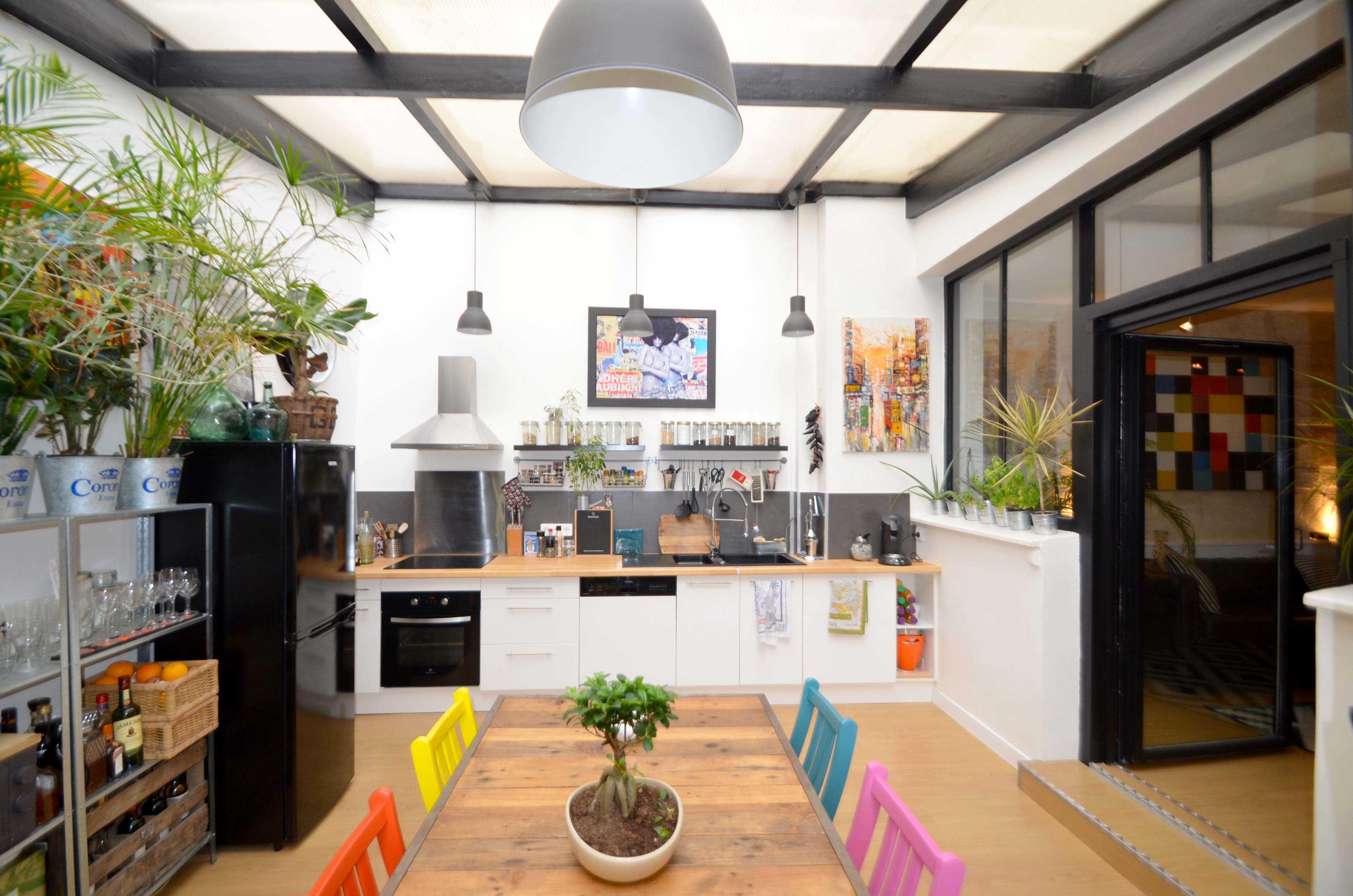 Cuisine tr s lumineuse - Ateliers loft bordeaux ...