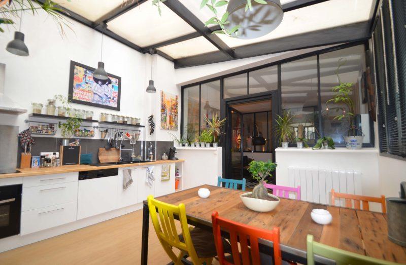 Cuisine avec verri re - Ateliers loft bordeaux ...