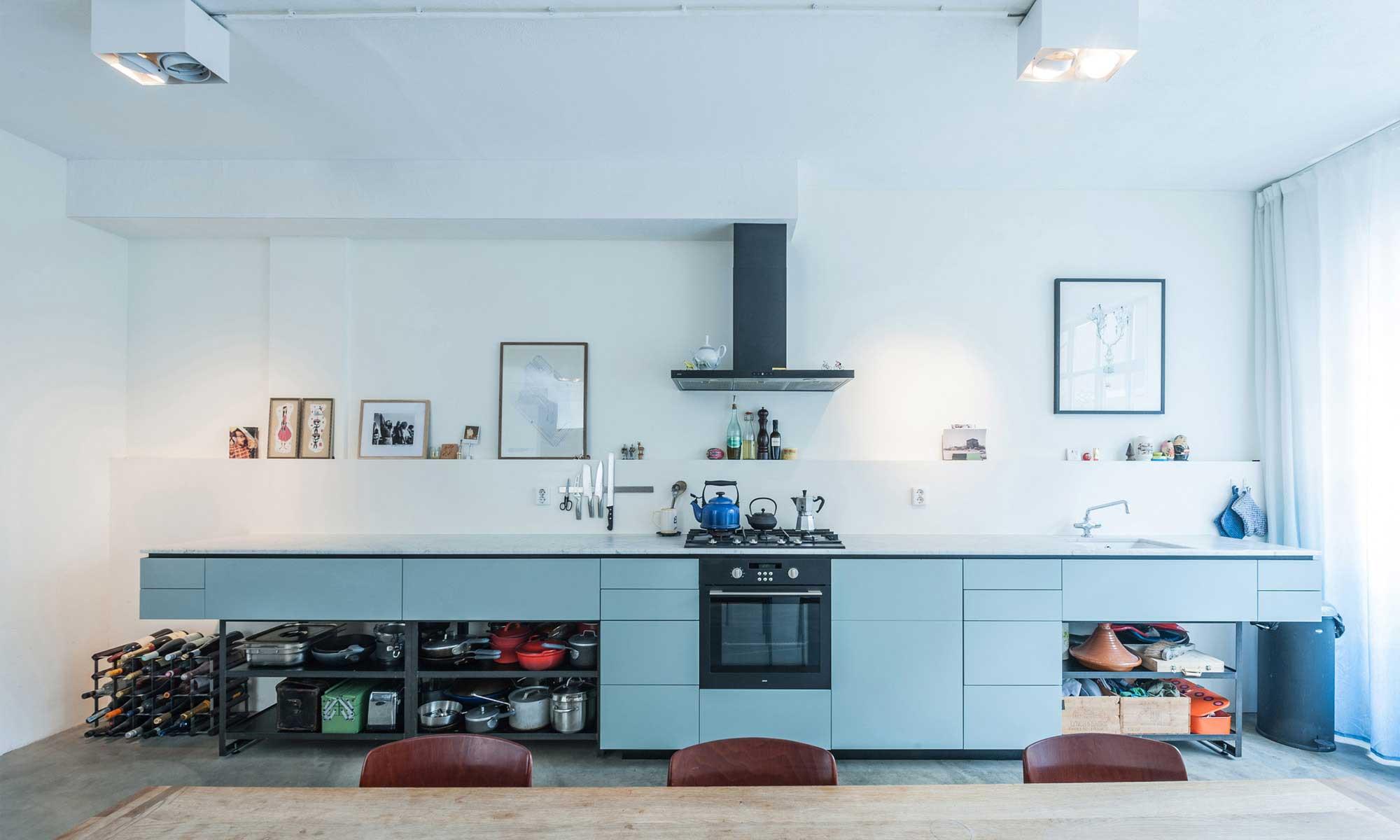 cuisine bleu ciel. Black Bedroom Furniture Sets. Home Design Ideas
