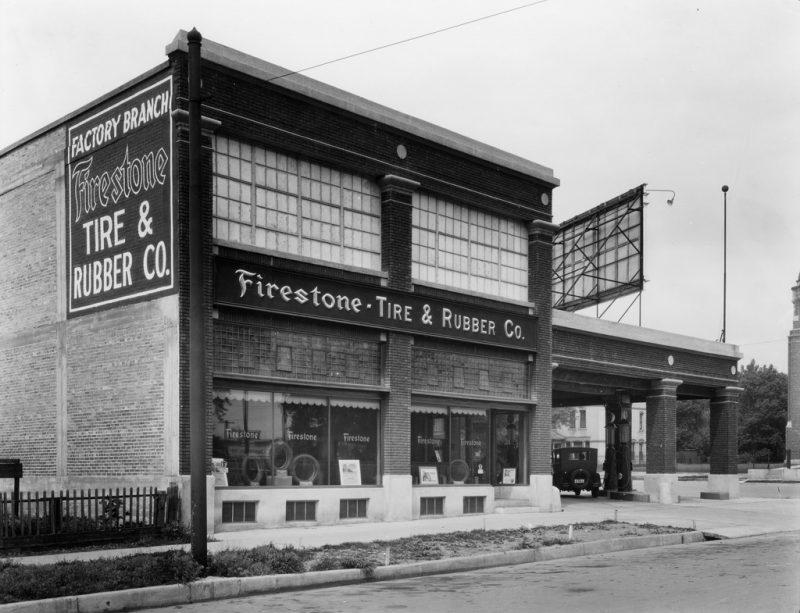 Ancien garage Firestone