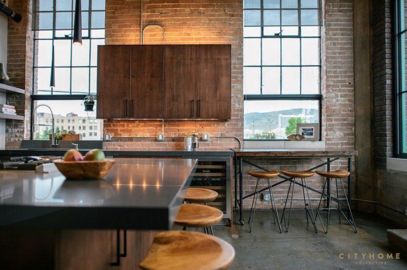 Loft avec cuisine industrielle