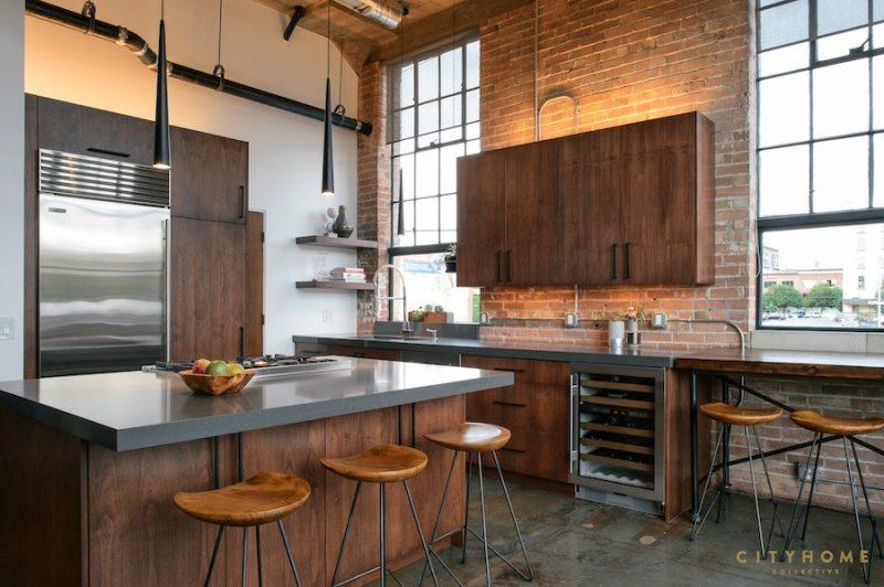 Loft avec cuisine industrielle - Cuisine industrielle loft ...