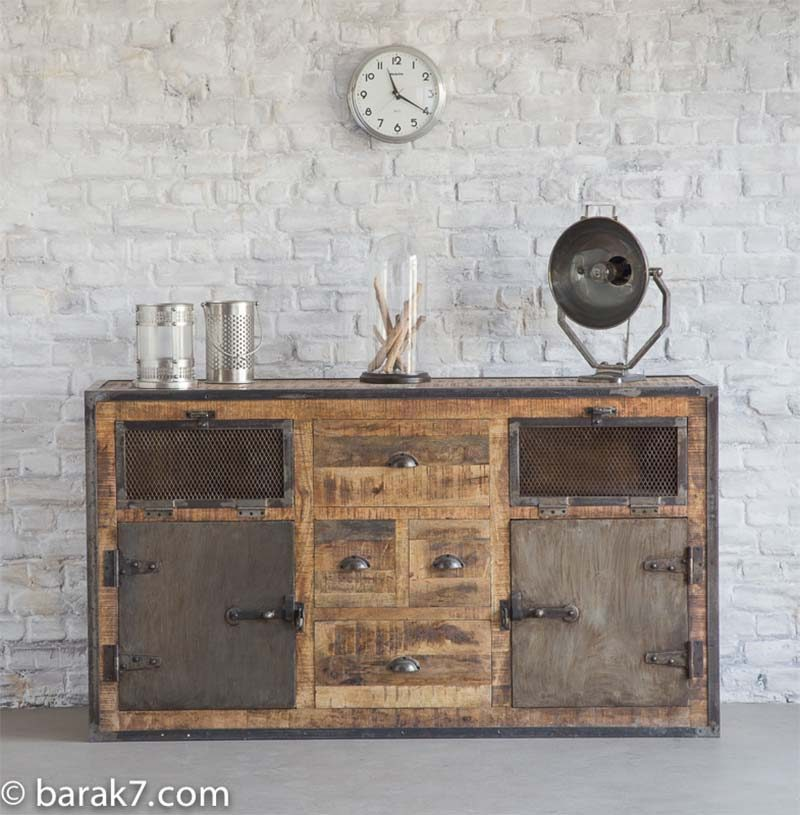 49 id es d co de buffet et commode for Buffet industriel bois et metal
