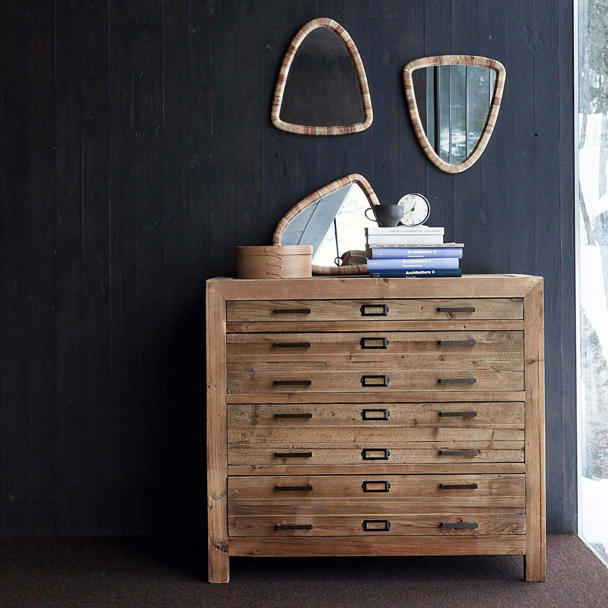 commode en bois brut par am pm. Black Bedroom Furniture Sets. Home Design Ideas