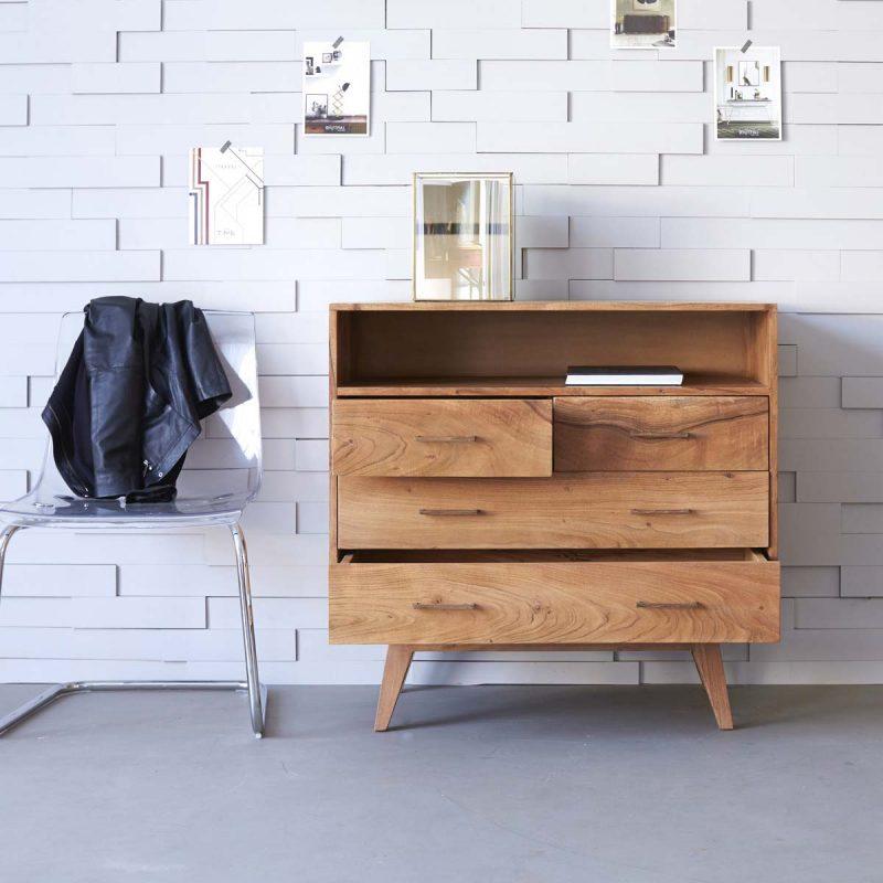Commode scandinave en acacia
