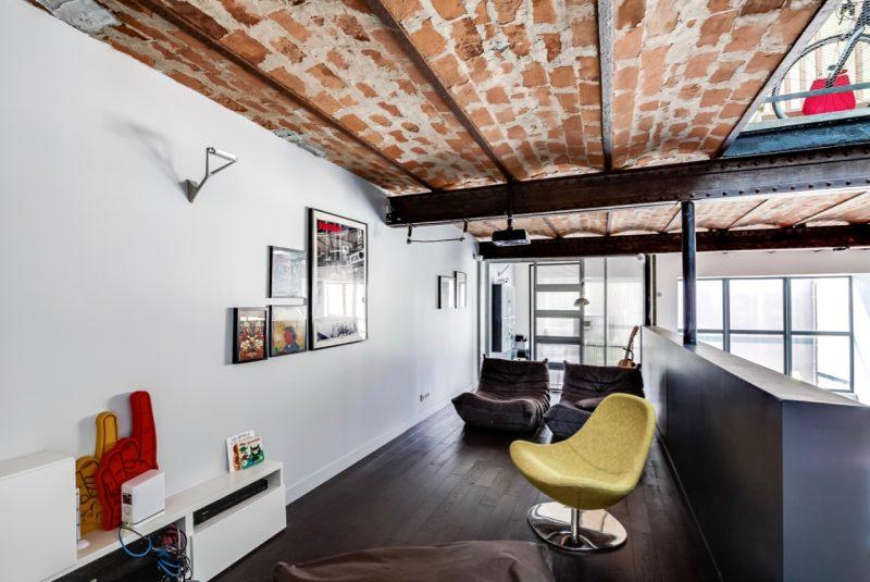 Plafond en briques