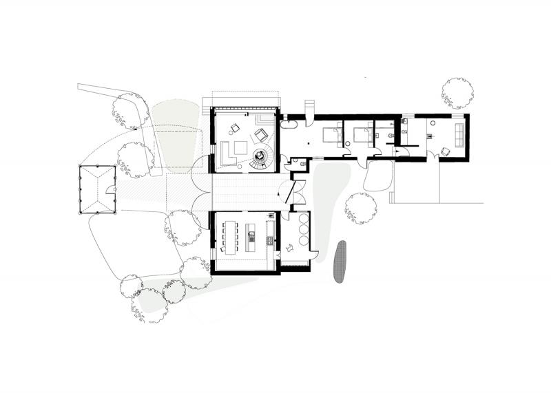 Plan du loft dans une grange
