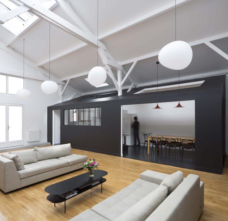 loft dans une menuiserie paris par agn s agn s. Black Bedroom Furniture Sets. Home Design Ideas