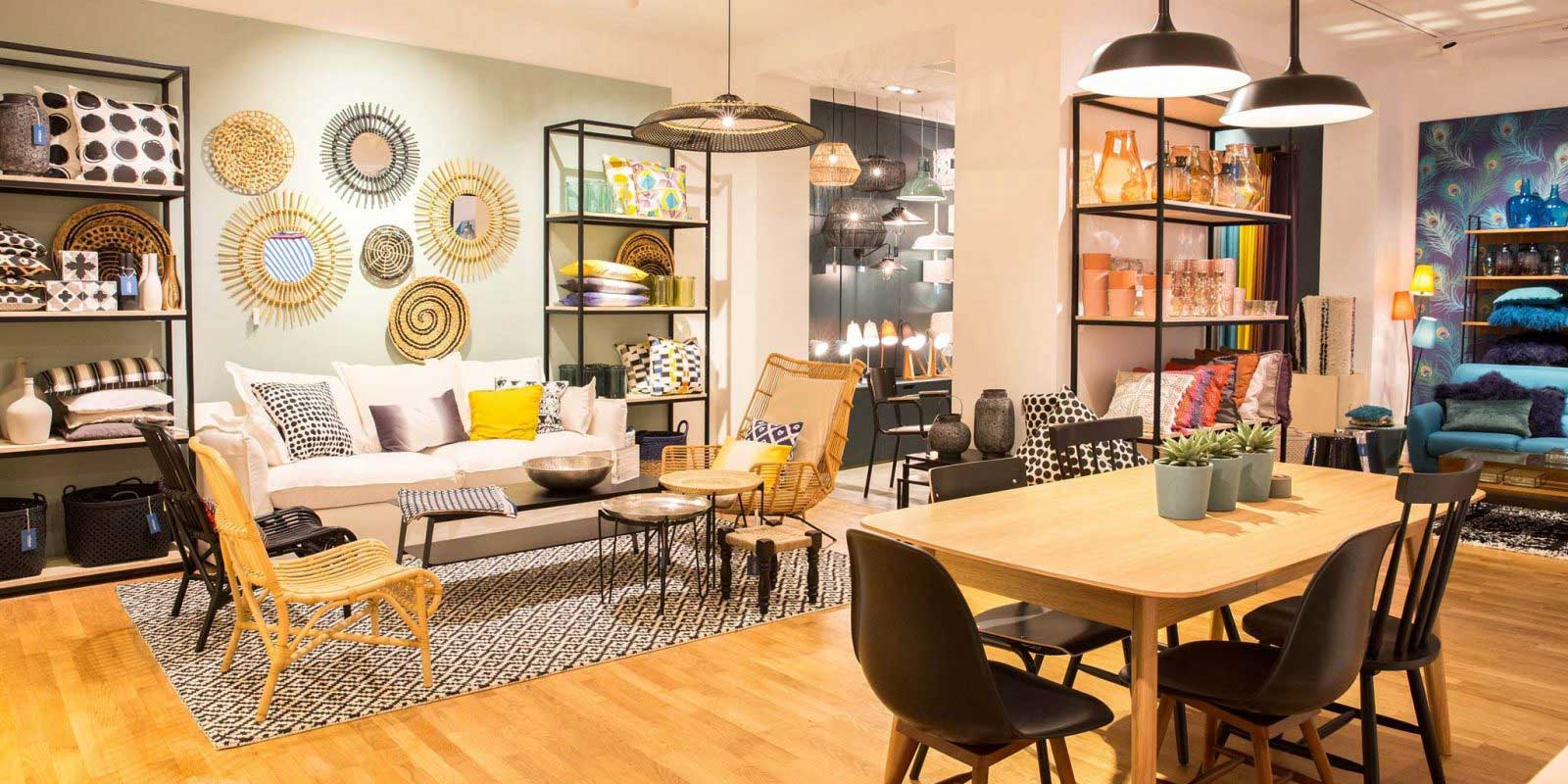 la redoute int rieurs ouvre sa premi re boutique. Black Bedroom Furniture Sets. Home Design Ideas