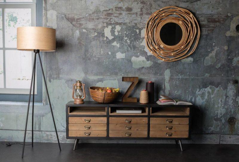 Meuble de rangement en bois à tiroirs