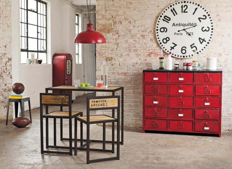 49 id es d co de buffet et commode for Meuble de rangement rouge