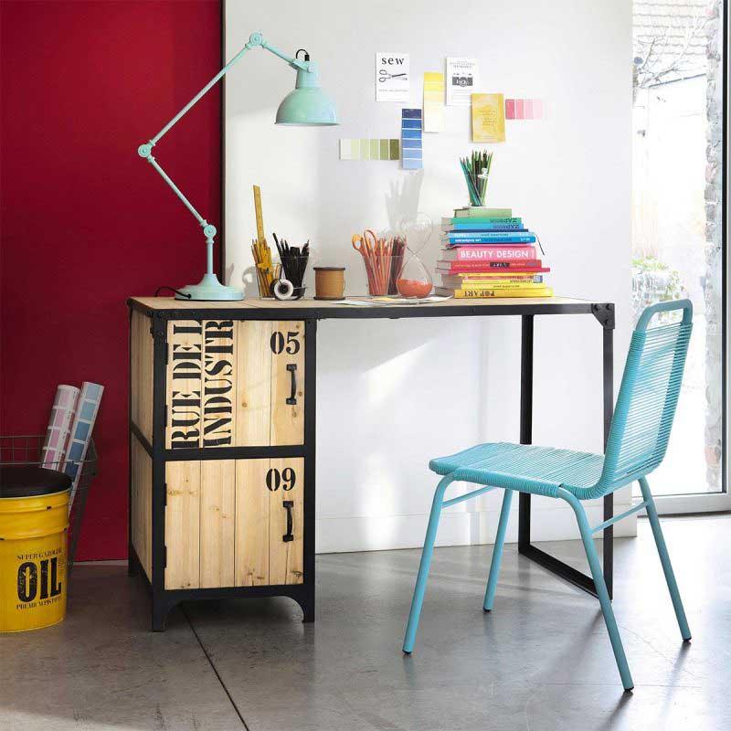 Chaise de jardin turquoise Maisons du Monde