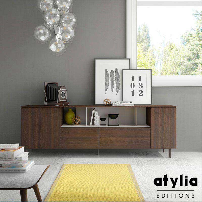 buffet design en bois. Black Bedroom Furniture Sets. Home Design Ideas